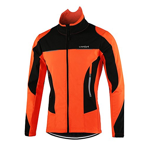Lixada Men's Cycling Jacket Waterproof Thermal Breathable Cycling Clothing Sets Long Sleeve Waterproof MTB Mountain Bicycle Jacket
