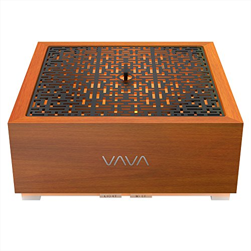 VAVA Essential Oil Diffuser with Real Oak Wood, 8-16 Hours