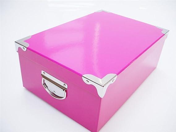 Colourful neón cartón duro Craft almacenamiento cajas de Navidad caja de regalo de cumpleaños, Naranja, Box 8 Purple: 38x26x14 cm: Amazon.es: Hogar