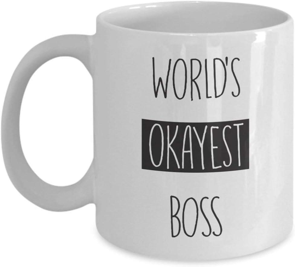 Taza del jefe más aceptable del mundo - Taza de café divertida regalo perfecto para el jefe