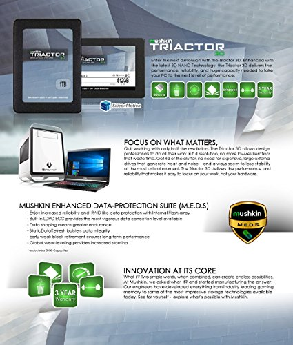 Mushkin TRIACTOR-3DL - 1TB Internal Solid State Drive (SSD) - 2.5 Inch - SATA III - 6Gb/s - 3D Vertical TLC - 7mm (MKNSSDTR1TB-3DL) by Mushkin (Image #6)
