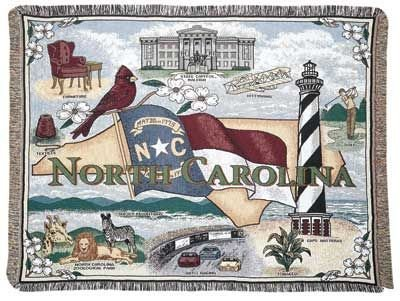 LoomHome State of North Carolina Tapestry Throw