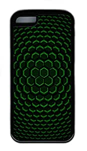 iPhone 5C Case, iPhone 5C Cases - Patterns Green Screen Polycarbonate Hard Case Back Cover for iPhone 5CšC Black