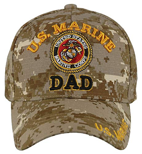 Artisan Owl Officially Licensed US Marine Dad Embroidered Baseball Cap (Camo)