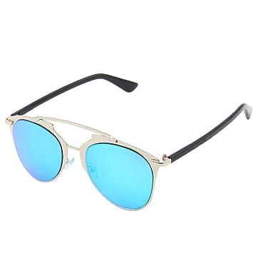 Wkaijc Mode Damen Persönlichkeit Kreativität Komfort Mode Metall Farbfilm Sonnenbrillen Sonnenbrillen ,A