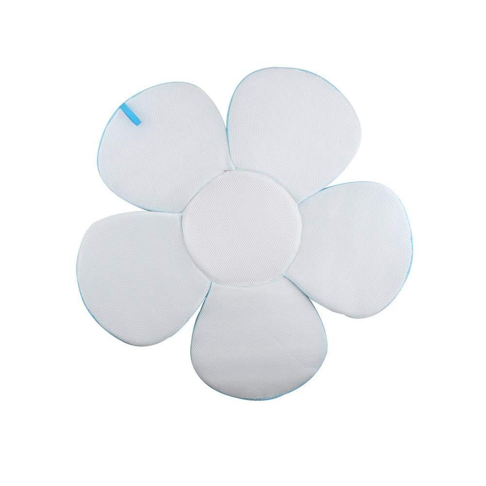 Blu imbottito e pieghevole per vasca da bagno Lelestar Materassino da bagno a forma di fiore cuscino da bagno per neonati portatile
