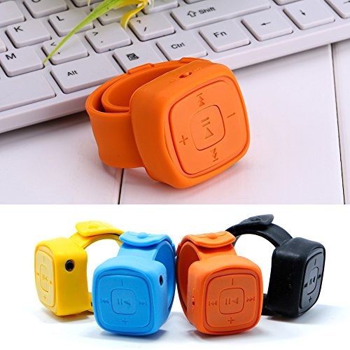 NNDA CO Creative Wrist Watch USB MP3 Music Player+Earphone Support 32GB Micro TF SD Card(Orange)