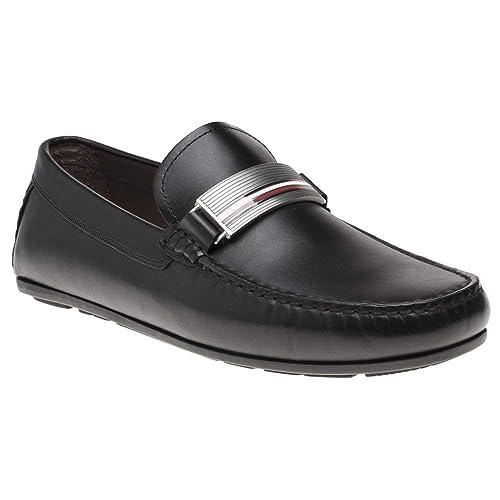 Tommy Hilfiger Hardware Leather Hombre Zapatos Negro: Amazon.es: Zapatos y complementos