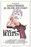 """Love and Bullets 1979 Authentic 27"""" x 41"""" Original Movie Poster Very Fine Charles Bronson Drama U.S. One Sheet"""