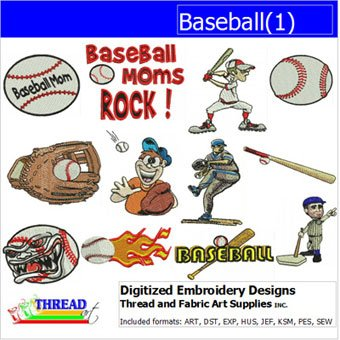 Baseball Embroidery Designs - Machine Embroidery Designs - Baseball(1) - CD