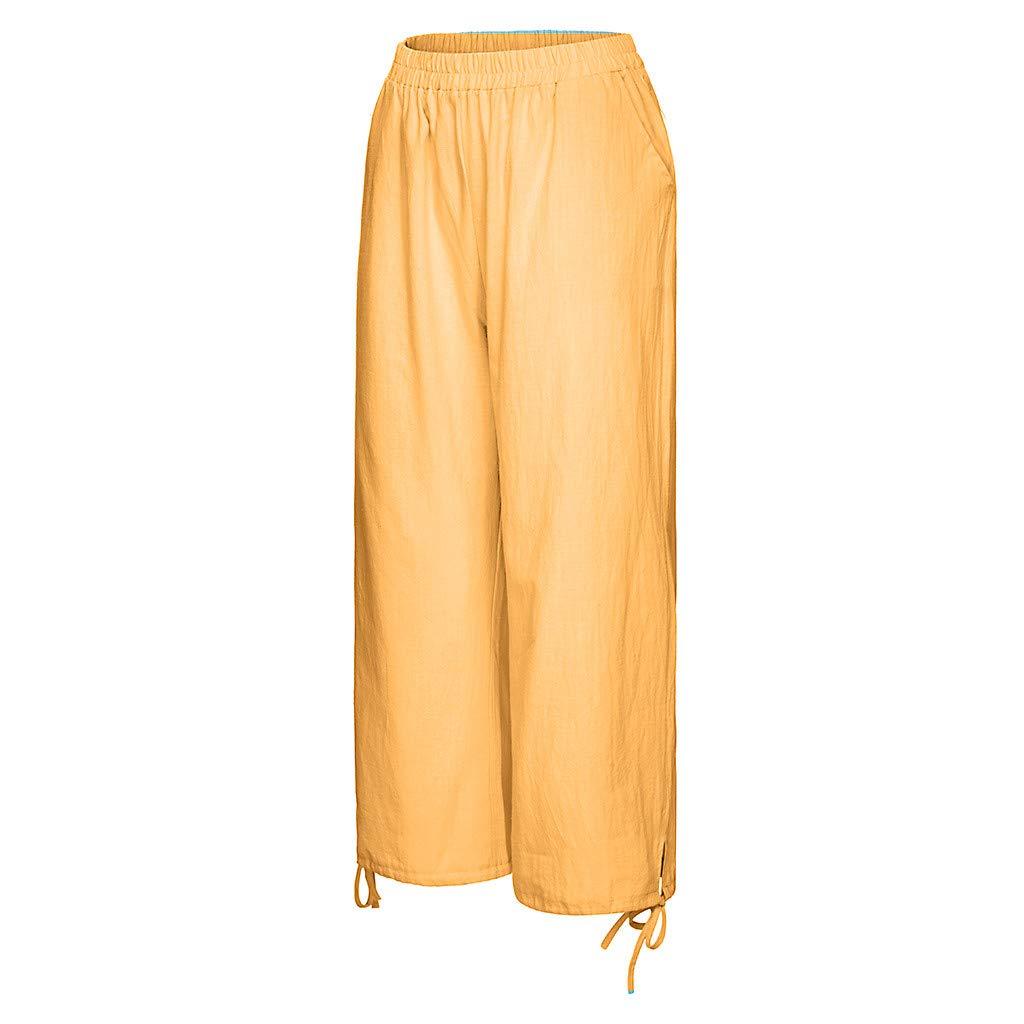 Casas Ansenesna Pantalones Mujer Verano 2019 Largos Moda Tallas Grandes Para Color Puro Tightness Pantalon Ancho Pantalon Con Cordon Jardin