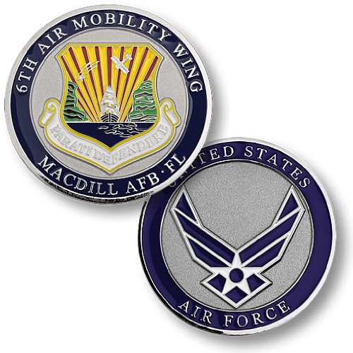 6th Air Mobility Wing, MacDill Air Force Base, FL Challenge for sale  Delivered anywhere in USA