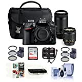Nikon D7200 DSLR Camera Kit with AF-P DX 18-55mm f/3.5-5.6G VR Lens & AF-P DX 70-300mm f/4.5-6.3G ED Lens - Bundle With 16GB SDHC Card, 55mm Filter Kit, 67mm Filter Kit, Memory Wallet And More