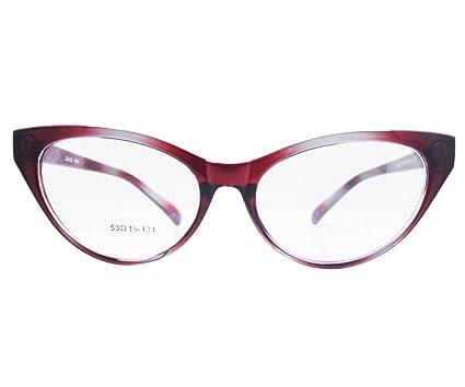7a2d01d8ec Agstum Ladies Womens Cat eye Glasses Frame Optical TR90 Eyeglasses  (Gradient red)