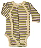Tamiko Unisex Baby Cotton NICU-approved Preemie Onesie Long-Sleeved Striped-Multicoloured-1.5-3 lbs-15 in, Baby & Kids Zone