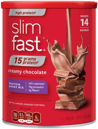 Slim-Fast 3-2-1 poudre de protéines de haute, Shakes de chocolat crémeux, 12,83 oz
