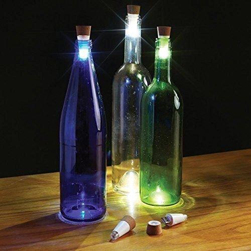 Stoog Tapón de Botella Vino Lámpara LED Botella , Corcho de Botella, USB Recargable, Luz Decoración Hogar para Navidad, Patios, Fiestas y Cenas ...