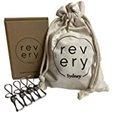 Revery Sydney 304 Grade Stainless Steel Clothes Pegs, 35 Pack, Eco-Friendly Sustainable Heavy-Duty Metal Clips, Multi…