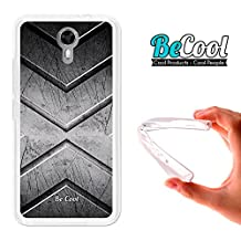 Ulefone Power 2 Cover Gel Flexible, TPU Case made out of the best Silicone, protects and adapts flawlessly to your Smartphone, together with our exclusive designs Becool Premium®. Stell texture.