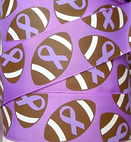 Ribbon Awareness Rose Purple - 1.5 Alzheimers Awareness Purple Football Ribbon Grosgrain Cheer Purple 5YD Flowers, Arts & Crafts Gift Wrapping Wedding Decorations