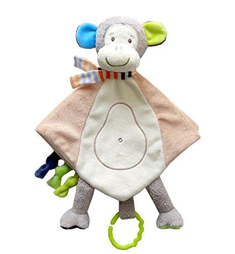 YOIL Lovely Toddler Baby Consolador de Juguete Toalla de Algodón Toalla de Mano Suave Toalla de bebé Juguetes Lindo Mono de Peluche Toy_Light Brown: ...