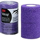 "3M Vetrap 4"" Bandaging Tape, 4""x 5 Yards (Purple, 6 Rolls)"