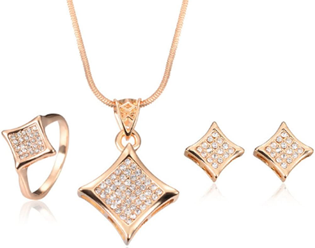 AmaranTeen Jewelry Sets African Bridal Gold Plated Three-Dimensional