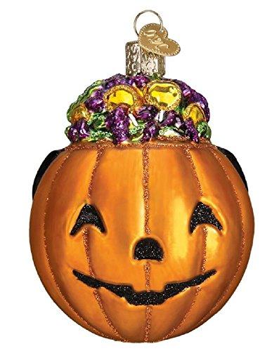 Old World Christmas Blown Glass Halloween Trick or Treat Pumpkin Ornament -