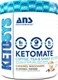 Ketomate - Ketogenic Keto Booster Creamer for Coffee, Tea & Shakes | Zero Sugar & Low Carb Keto Friendly Beverage Enhancer | Boost Energy, Metabolism & Mental Focus (Caramel Macchiato)