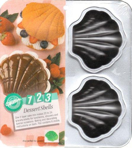 Wilton 4 Cavity 2105-9440 Fancy Shells (4 Baking Shells)