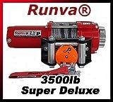 Runva 3.5P 3500 lb 12V ATV UTV Winch Super Deluxe Package