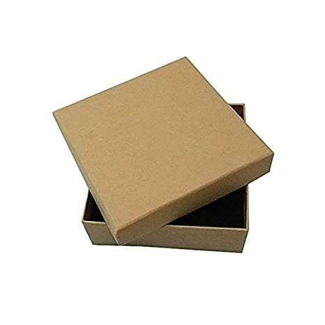 Myriad Choices - 16 Cajas de Joyas de cartón Kraft, 9 x 9 x ...
