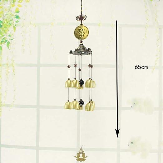 ZhiGe Campanas de Viento Metal Campana Campana de Viento Colgante Creativa decoración jardín balcón Colgante 65cm: Amazon.es: Jardín