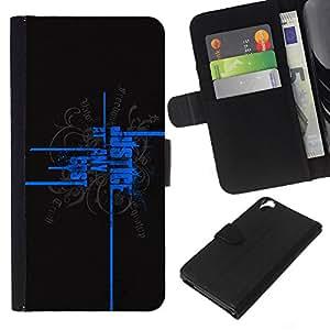 EJOY---La carpeta del tirón la caja de cuero de alta calidad de la PU Caso protector / HTC Desire 820 / --Justicia a cualquier precio