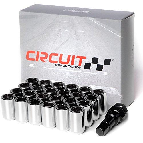 Hex Gorilla Nuts (Circuit Performance Tuner Key Acorn Lug Nuts Chrome 12x1.25 Forged Steel (24pc + Tool))