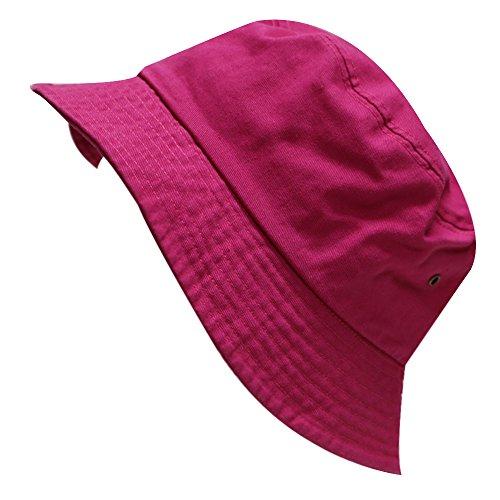 City Hunter Unisex Cotton Basic Plain Bucket Hat - Multi Colors (2020 Fuschia)