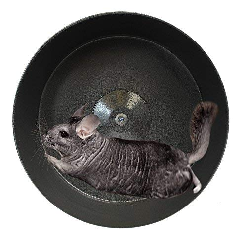 "Exotic Nutrition 15"" Chin-Sprint : All-Metal Exercise Wheel for Chinchillas, Prairie Dogs, Rats & Other Small Animals"