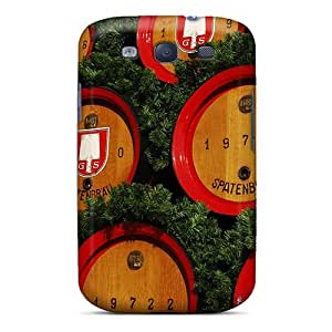 Galaxy S3 Case Cover - Slim Fit Tpu Protector Shock Absorbent Case (beer Kegs)