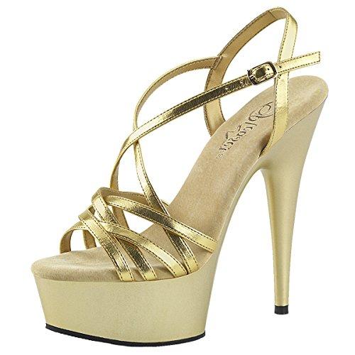 Heels-Perfect - Zapatilla alta Mujer Gold (Gold)