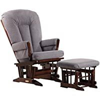 Dutailier Colonial Glider and Ottoman Combo