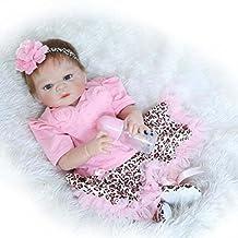 23inch Real Life Silicone Full Body Washable Newborn Baby Girl Dolls