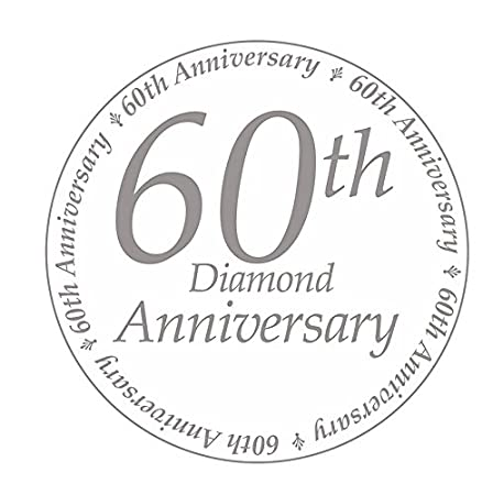 16 CT by Partypro 60 Years Classy Diamond Luncheon Napkin
