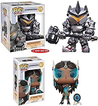 "Funko POP! Overwatch: Symmetra + Reinhardt – 6""– Stylized Game Vinyl Figure NEW: Amazon.es: Juguetes y juegos"
