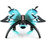 E-SCENERY JJRC RC Voice Control 2.4G FPV 6-Axis Gyro 4CH 3D Flip Quadcopter, RTF Remote Control Drone with 480P HD Camera and LED Night Light, Rechargeable Battery