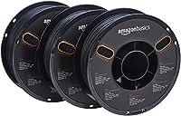 AmazonBasics PLA 3D Printer Filament, 1.75mm, Black, 1 kg Spool, 3 Spools from AmazonBasics