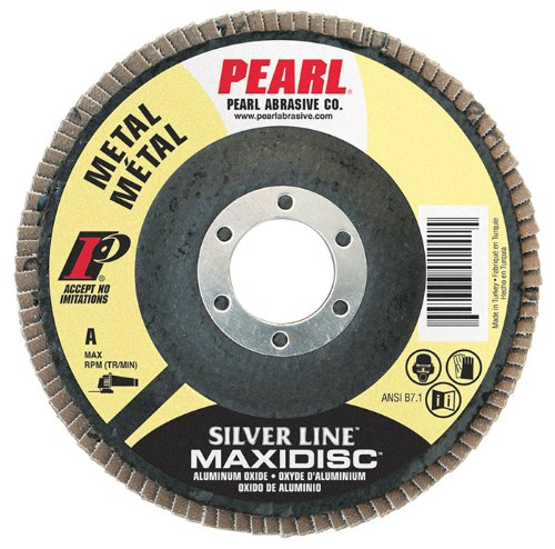 Pearl Silver Line 5'' x 7/8'' AL/OX T27 Flap Disc - 120 GRIT (Pack of 10)