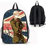 Dreamcosplay Hetalia: Axis Powers Anime England Backpack Student Bag Cosplay