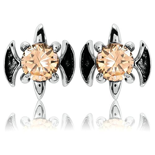 AmDxD Jewelry Stainless Steel Stud Earrings for Women Fleur De Lis Angel Wing Cross Yellow (Celtic Skull Zippo Lighter)