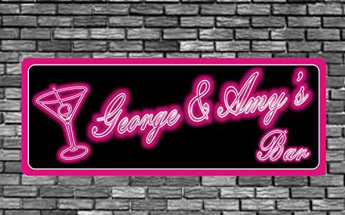 Olga212Patrick Bar Name Personalized Neon Effect Signustom Martini Sign Home Cave Man Light Room Pub Lounge