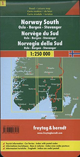Norway South OsloBergenStavanger Road Maps FreytagBerndt - Michelin norway map 752